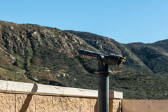 Viewing Scope Pointed Left Towards Mountain Range Royalty Free Stock Photo