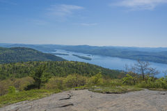 Lake George Seen From Buck Mountain  Stock Photography