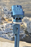 Viewing station over santorini greek island Royalty Free Stock Photo