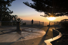 Picnic Point Lookout, Toowoombas, Queensland, Australia at sunset Stock Image