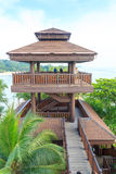 Viewing tower at Palawan Beach - Southernmost Point of Continental Asia, Sentosa Island Royalty Free Stock Photo