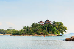 Viewing towers at Palawan Beach - Southernmost Point of Continental Asia, Sentosa Island Stock Image