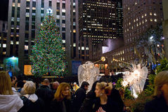 Viewing the Tree Rockefeller Center Royalty Free Stock Photography