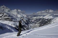 Winter landscape in Zermatt Royalty Free Stock Photography