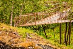 Viewingplatform de Gudbrandsjuvet em Noruega Foto de Stock