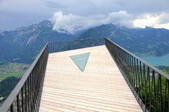 Viewpoint above Interlaken. Switzerland. Royalty Free Stock Image