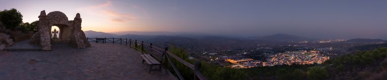 Viewpoint in Almeria called cerro de la cruz royalty free stock images