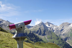 Viewpoint in the alps Royalty Free Stock Photography