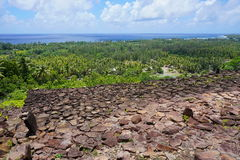 Viewpoint ancient stone structure French Polynesia Stock Images