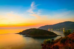Viewpoint andaman sea at twilight sky in Phuket Stock Photography