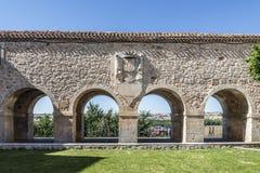 Viewpoint of the arches, Santa Clara square, Lerma, Burgos, Stock Photo