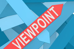 Viewpoint arrow pointing upward Stock Image