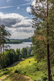 Viewpoint in Aukstaitija National Park Stock Image