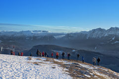 Viewpoint in the Austrian Mountain Royalty Free Stock Photo