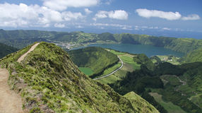 Viewpoint Azores 02. Viewpoint over Sete Cidades at Sao Miguel, Azores royalty free stock photo