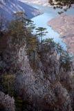 Viewpoint Banjska rock at Tara mountain looking down to Canyon of Drina river, west Serbia Stock Image