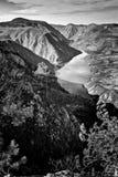 Viewpoint Banjska rock at Tara mountain looking down to Canyon of Drina river, west Serbia Royalty Free Stock Photo