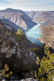 Viewpoint Banjska rock at Tara mountain looking down to Canyon of Drina river, west Serbia Stock Images