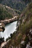 Viewpoint Banjska rock at Tara mountain looking down to Canyon of Drina river, west Serbia Royalty Free Stock Image