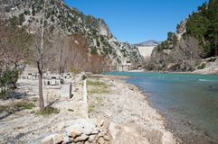 Viewpoint at barrier lake, Turkey Royalty Free Stock Image