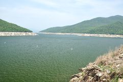 Viewpoint of Bhumiphol dam in Tak, Thailand Stock Image