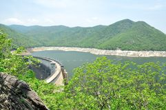 Viewpoint of Bhumiphol dam in Tak, Thailand Stock Photos