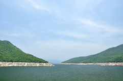 Viewpoint of Bhumiphol dam in Tak, Thailand Stock Images