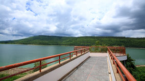 Viewpoint bridge to see Lamtaklong dam Royalty Free Stock Photography