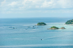 Viewpoint Chado cliff on Koh Adung Royalty Free Stock Image