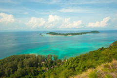 Viewpoint Chado cliff on Koh Adung Stock Images