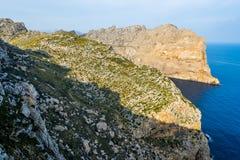 Viewpoint close to Cap Formentor, Majorca. (spain Royalty Free Stock Photo