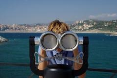 Viewpoint coin binoculars Stock Photo