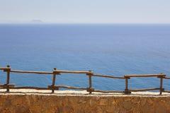 Viewpoint in Crete. Greece. Mediterranean sea and Gavdos island Stock Photo
