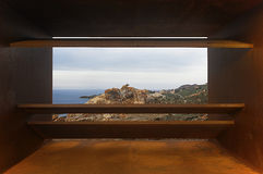Viewpoint in Creus Cape with Mediterranean sea. Girona Royalty Free Stock Images