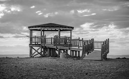 Viewpoint in the desert of Bardenas Royalty Free Stock Photo