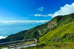 Viewpoint at Doi Inthanon National Park Chiangmai province Thail Royalty Free Stock Image