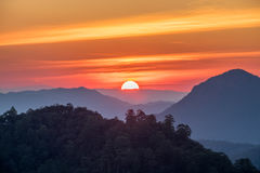 Viewpoint doi kiew lom at sunset Royalty Free Stock Photos