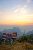 Viewpoint of  Doi Luang Chiang Dao. This is the viewpoint of  Doi Luang Chiang Dao stock photos