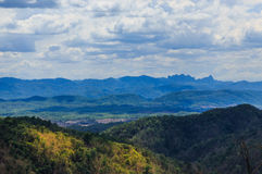 Viewpoint Doi Muser thailand Stock Image