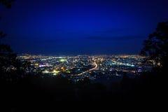 Viewpoint Doi Suthep. Cityview, Chiang Mai, Thailand Royalty Free Stock Photos