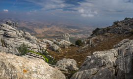 Viewpoint at El Torcal de Antequera Royalty Free Stock Images