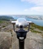Viewpoint för kikarebergöverkant Royaltyfri Fotografi