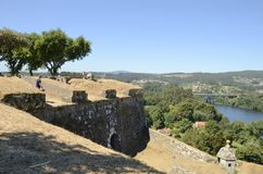 Viewpoint in the fortress  to the river Royalty Free Stock Image