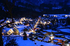 Viewpoint at Gassho-zukuri Village, Shirakawago, J Stock Photography