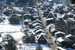 Viewpoint at Gassho-zukuri Village, Shirakawago, Japan Stock Photography