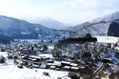 Viewpoint at Gassho-zukuri Village, Shirakawago, Japan Royalty Free Stock Photo
