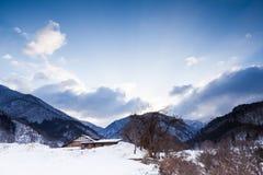 Viewpoint at Gassho-zukuri Village Royalty Free Stock Photos