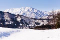 Viewpoint at Gassho-zukuri Village Stock Photo