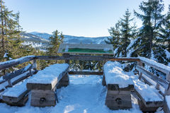 Viewpoint of the Giant Mountains in Spindleruv Mlyn. Czech republic Stock Photography