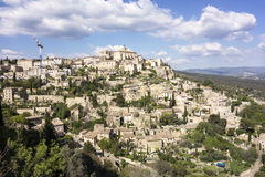Viewpoint of Gordes in Luberon Royalty Free Stock Image